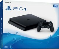 PlayStation 4 1TB Slim Console [Sony PS4 Jet Black w/  Black Controller 4K] NEW