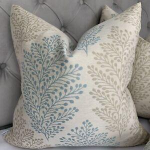 """Designer Cushion Cover 18"""" John Lewis& Partners Fabric Bracken , Duck Egg"""