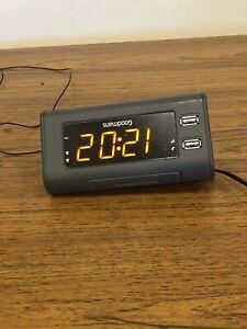 GOODMANS GCRUSB03 DUAL ALARM FM CLOCK LED DISPLAY USB RADIO