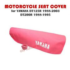 YAMAHA DT125R 1988-2003 DT200R 1988-1995 HOT PINK SEAT COVER & STRAP