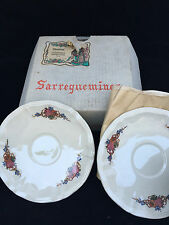 Lot de 6 sous tasses Sarreguemines Obernai dans sa boite d'origine