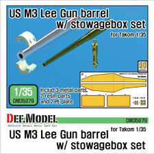 DEF. Model, DM35079, M3 Etats-Unis Lee Gun Barrel avec stowagebox Set, 1:35