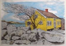 House On The Fjord - US, art reproduction, artist, ink, realism, architecture