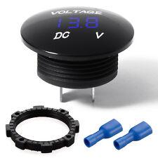 1*Auto Car Blue LED DC12-24V Panel Digital Voltage Volt Meter Display Voltmeter