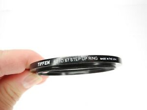 Tiffen 62mm To 67mm Camera Lens Step Up Ring Made In The U.S.A.