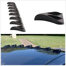 8pcs Car Truck Black Vortex Generators Roof Shark Fins Spoiler Wing Diffuser Kit