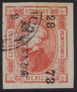 cw34 Mexico #95 25ctv Monterrey 28-73 Sz 863 5pts VF-ExF est $3-5 Beauty