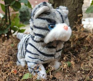 Süßes Kätzchen miaut läuft u rennt Katze Plüschkatze  Haustier Geburtstag