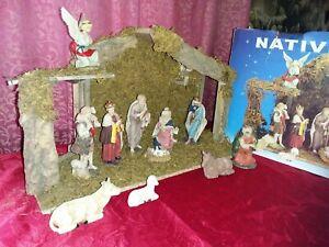 VINTAGE CHRISTMAS NATIVITY SET OF 12 PIECES