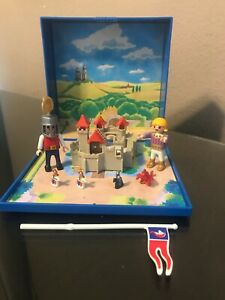 Playmobil 4333 Knights Castle Micro World Scale Mini Magnetic Set Not Complete