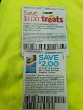 New Listing*New* (2) Purina Pet Food Coupons Cat Chow Dry Bag & Dog Treats Or Chews 1/4/21
