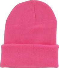 Plain Beanie Ski Cap Hat Skull Knit Cuff Multicolor Unisex Mens Womens BU-89485