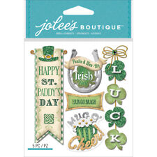 St. Patricks Day Irish Words Jolee's Boutique Dimensional Stickers 50-21756 New