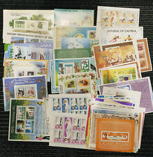 100 DIFFERENT BRITISH COMMONWEALTH MINT MINI SHEETS STAMPS MUH GREAT VALUE