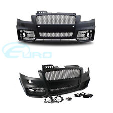 Audi RS Style Front Bumper A4 / S4 B7 05-07 Fitment w Black Grille