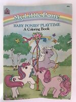 My Little Pony Baby Ponies' Playtime Coloring Book 1986 Random House