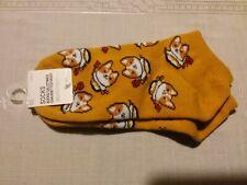 Corgi sock, Welsh Pembroke Cardigan New with tag, Mustard/gold