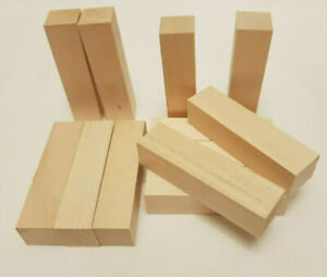 Lime Baaswood ,Linden Wood Hand Carving Blanks Blocks 12 Piece.100x25x25.