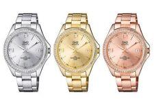 Reloj Mujer en Acero Q&q por el Ciudadano Solo Hora Lady Cristal PVD Gold Rosas