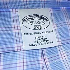 BROOKS BROTHERS Slim Fit Mens Dress Shirt Button Front Long Sleeve 16 - 2/3