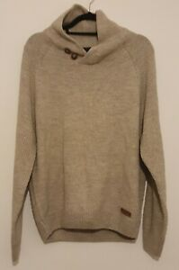 Worn To Party Hand Crafted Mens Jumper Size large beige
