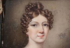 New listing Stunning Hand Painted Miniature Portrait of a Young Lady-Georgian Original Case-