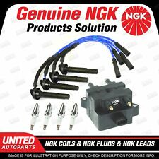NGK Spark Plugs Coils Leads Kit for Subaru Outback BH Impreza GG 2.5L 4Cyl