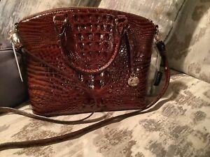 Nwt Brahmin duxbury satchel Pecan Melbourne medium Shoulder Handbag Purse