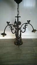 Antik Jugendstil Putten Kronleuchter/ 3 Flammig