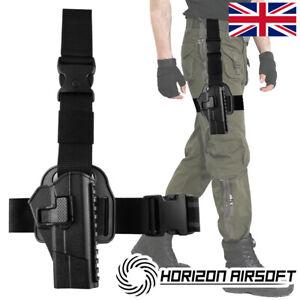Tactical M92 Leg Holster Adjustable Hand Thigh Pistol Gun Holster Waterproof UK