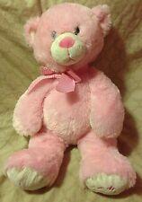 TY Classic My First Teddy Pink White Bear Baby Plush Stuffed Animal 2012 (116)