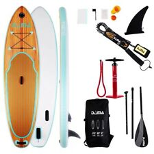 """DAMA Wooden Nature (9'6"""") Inflatable Stand Up Paddle Board, Drop Stitch & PVC"""