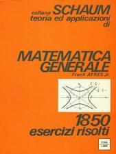 MATEMATICA GENERALE PRIMA EDIZIONE AYRES FRANK ETASLIBRI 1977 SCHAUM