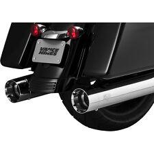 Vance & Hines Chrome Oversized 450 Titan Slip-On Mufflers - 16650
