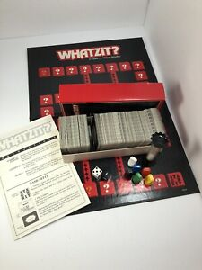 Vintage 1987 Whatzit? The Game of Fractured Phrases Board Game Milton Bradley