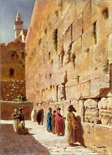 Charles Robertson Oil Painting repro At The Wailing Wall
