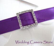 24 Square Rhinestone Ribbon Buckles for Wedding Card