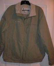 COLUMBIA MENS SIZE LARGE FULL ZIP-UP ATHLETIC FLEECE JACKET