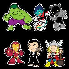 Marvel Super Heroes vinyl sticker set Iron Man Thor
