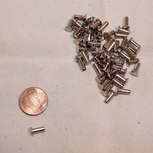 """Tubular Rivets - Nickel Plated - Small 5/16"""" - Pack of 300 (F203)"""