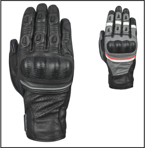 Oxford Hawker Leather Motorcycle Motorbike Summer Adventure Gloves CE Approved