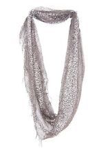 Black & Gold Sparkly Sheer Animal Print Imitation Infinity Twist Scarf (S72)