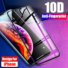 FULL COVERAGE Tempered Glass Screen Protector for Apple iPhone 11 Pro Max X XS 8