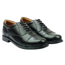 Mens Formal Leather Shoes Oxford Capped Classic Smart Dress Office Work Lace Up