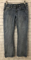 Rock & Roll Rival Low Rise Women's Jeans Size 30x32 Thick Stitch Faded Western