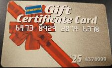 Blockbuster Gift Certificate Card  $25 Issued 1996 expiration Dec 31, 1999  (AA)