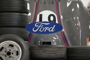 Ford Blue Oval Workshop Sign -Wall Mounted - Steel & Aluminium Construction