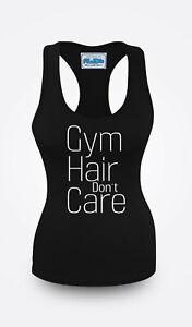 Gym Hair Don't Care Vest Women Racerback Workout Vest Sports Top Clothes