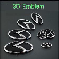 3D K Logo Black & Chrome Emblem 7pc SET (Fits: Kia Ceed 2011-2020)