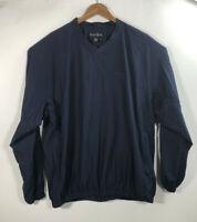 FootJoy Men's Sandpaper Size XL Blue V Neck Wind Breaker Pull Over Golf Jacket
